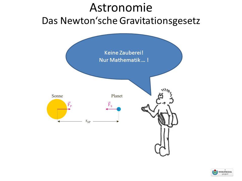 Astronomie Das Newton'sche Gravitationsgesetz Keine Zauberei! Nur Mathematik … !