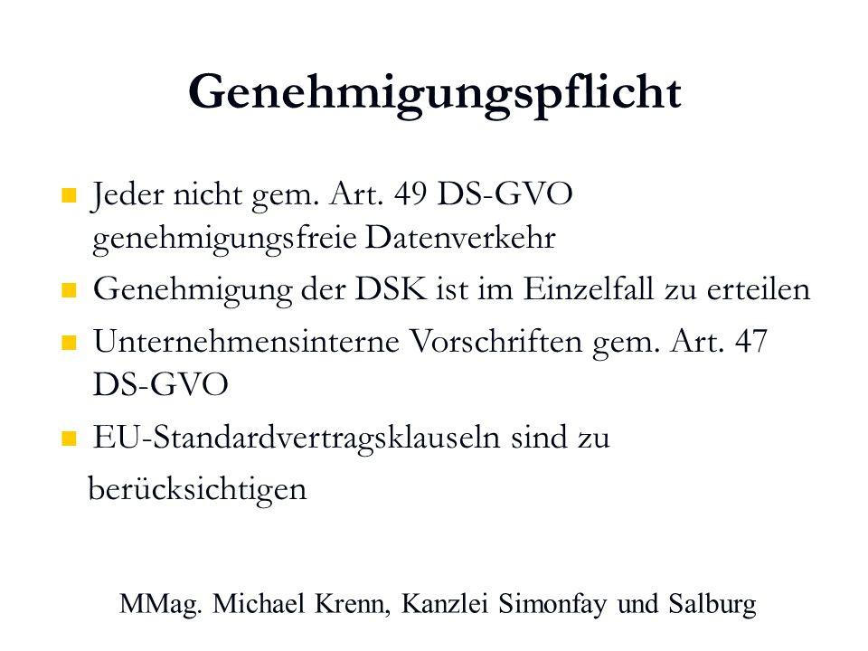 MMag. Michael Krenn, Kanzlei Simonfay und Salburg Genehmigungspflicht Jeder nicht gem.