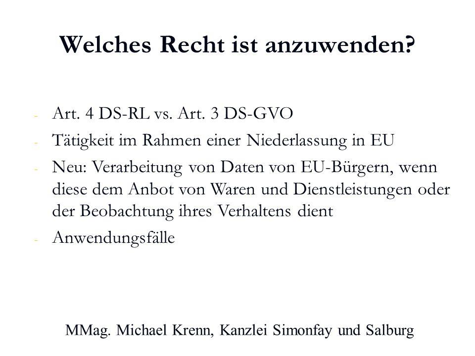 MMag. Michael Krenn, Kanzlei Simonfay und Salburg Welches Recht ist anzuwenden.