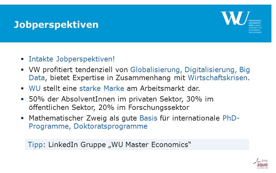 Jobperspektiven  Intakte Jobperspektiven.