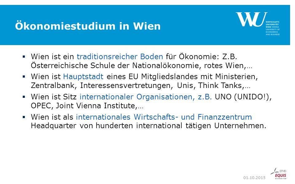 Ökonomiestudium in Wien  Wien ist ein traditionsreicher Boden für Ökonomie: Z.B.