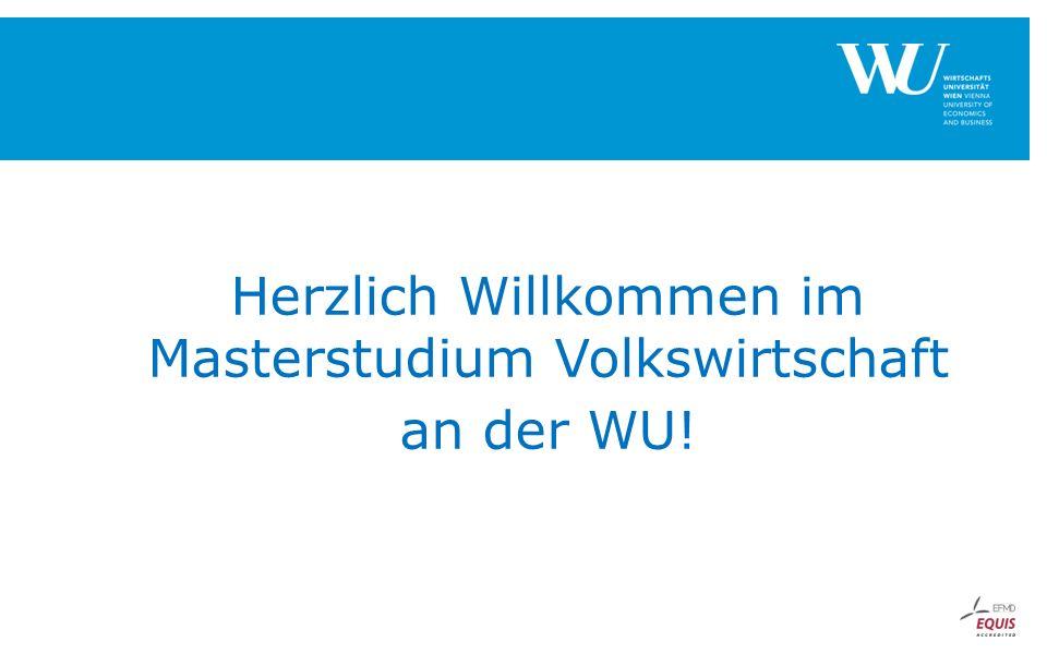 Herzlich Willkommen im Masterstudium Volkswirtschaft an der WU!