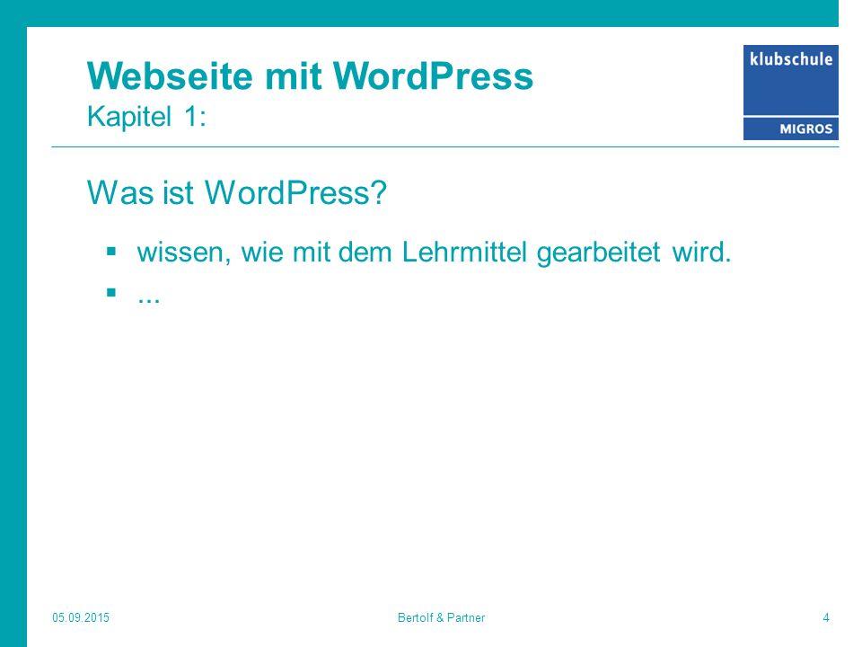 Webseite mit WordPress Kapitel 1: Was ist WordPress.