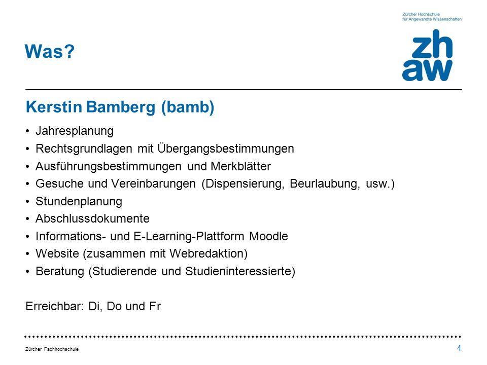 Zürcher Fachhochschule Was.