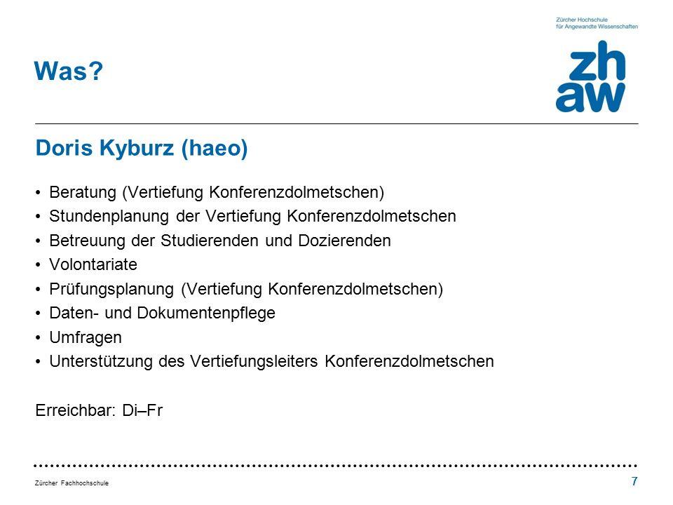 Zürcher Fachhochschule 777 Was.
