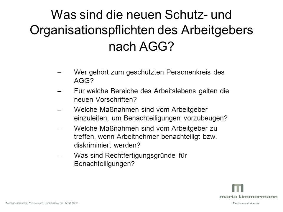 Was sind die neuen Schutz- und Organisationspflichten des Arbeitgebers nach AGG.