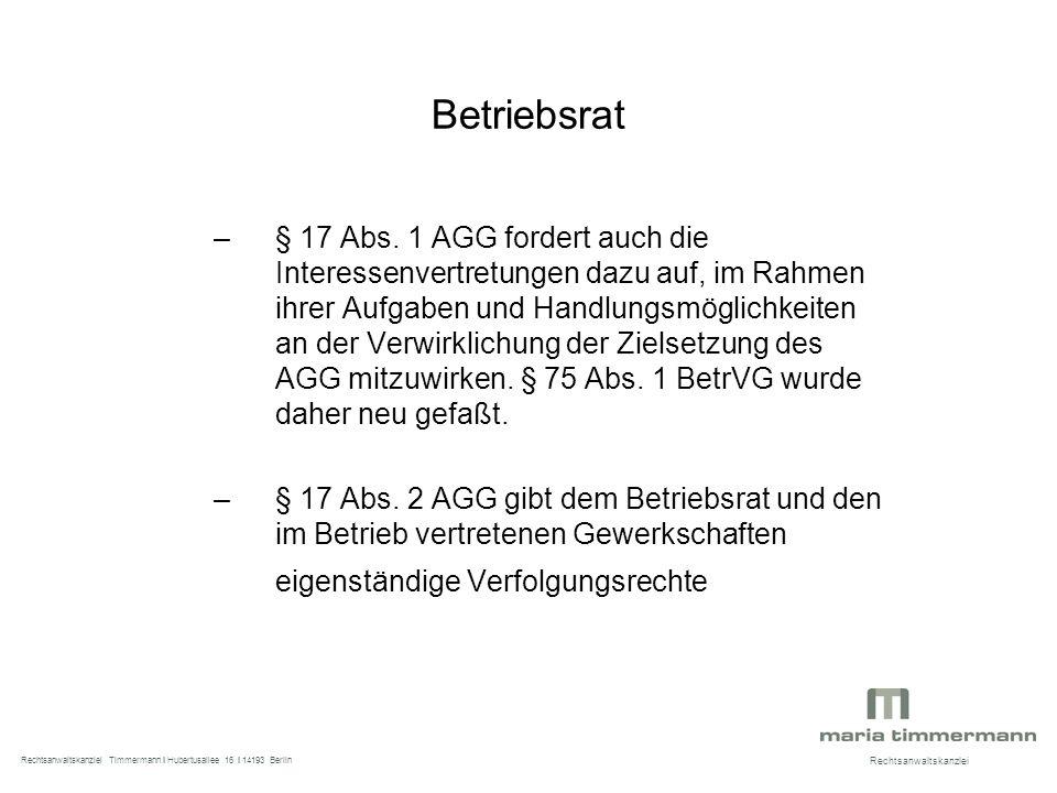 Betriebsrat –§ 17 Abs.