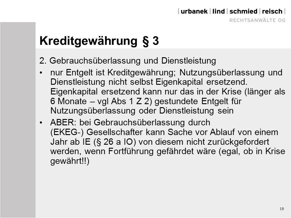 19 Kreditgewährung § 3 2.