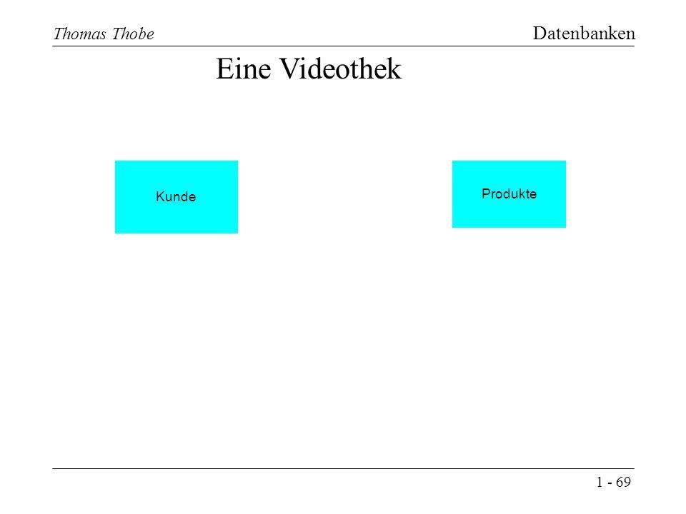 1 - 69 Thomas Thobe Datenbanken Produkte Kunde Eine Videothek