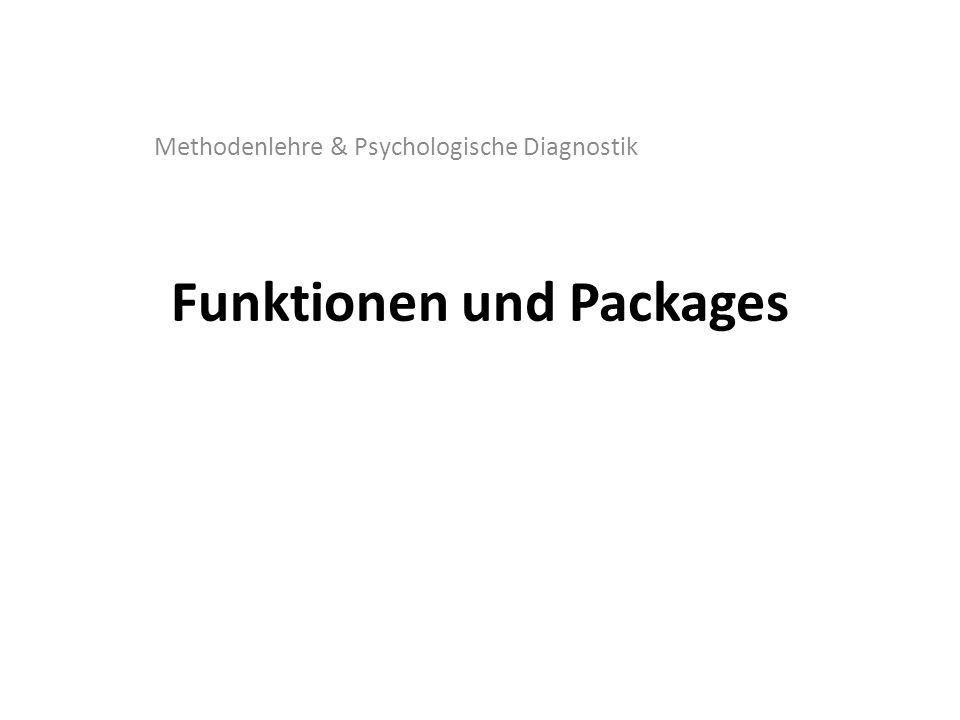 Funktionen und Packages Methodenlehre & Psychologische Diagnostik