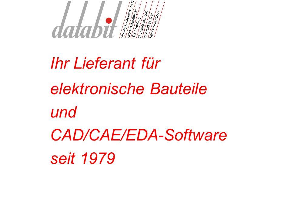 Ihr Lieferant für elektronische Bauteile und CAD/CAE/EDA-Software seit 1979