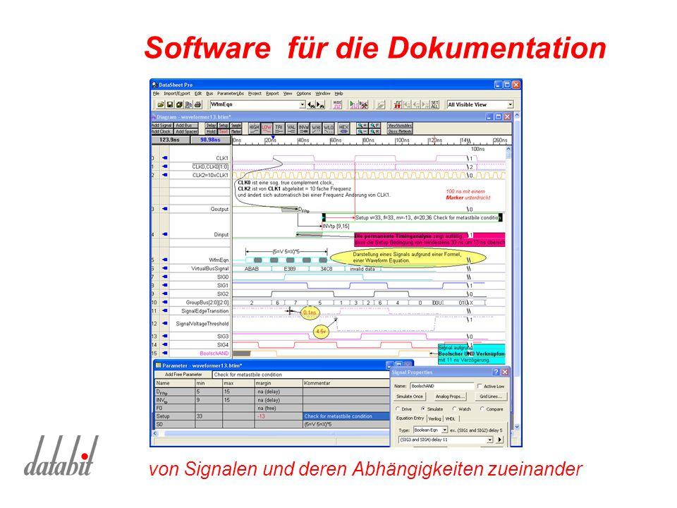 Software für die Dokumentation von Signalen und deren Abhängigkeiten zueinander