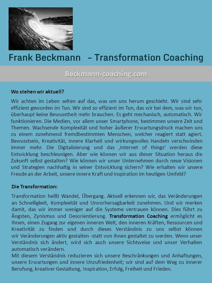 Beckmann-coaching.com Wo stehen wir aktuell.