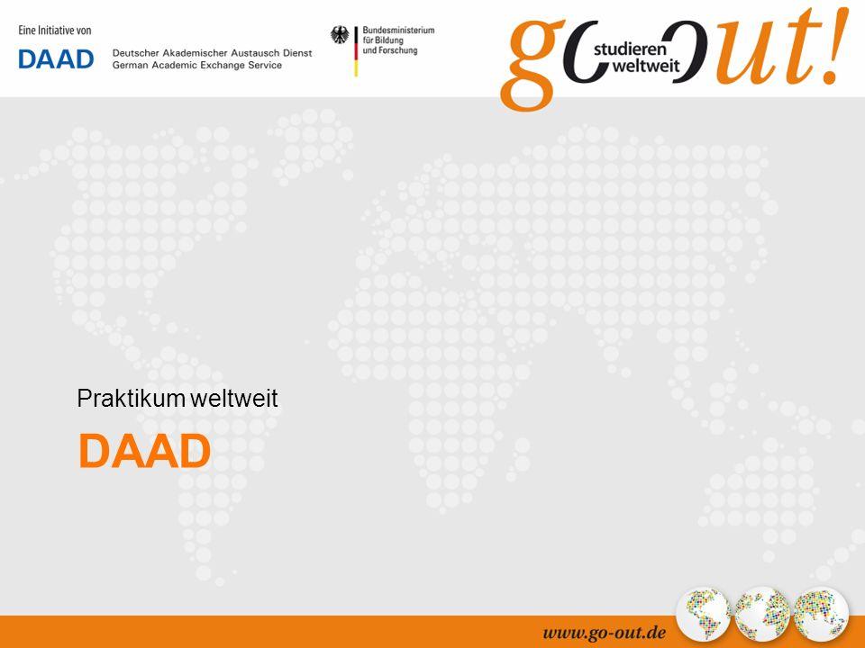 04/2006 33 DAAD Praktikum weltweit