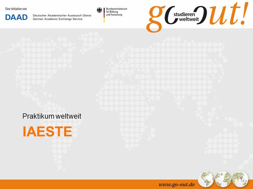 04/2006 37 IAESTE Praktikum weltweit