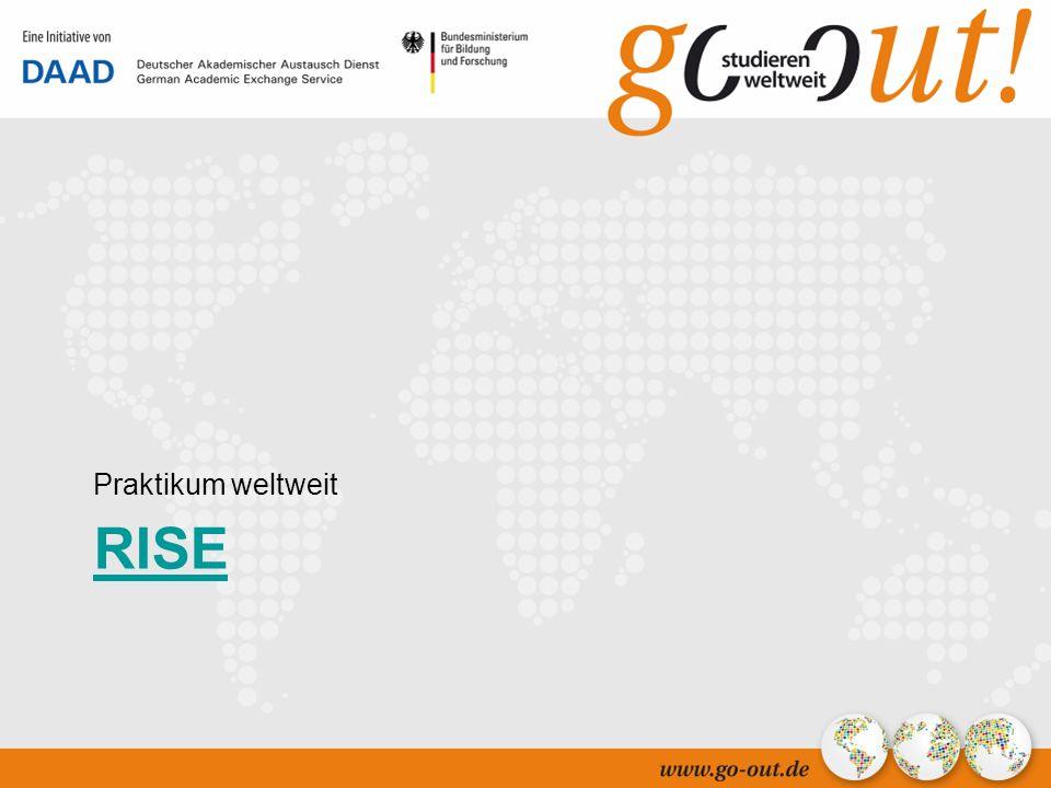 04/2006 39 RISE Praktikum weltweit