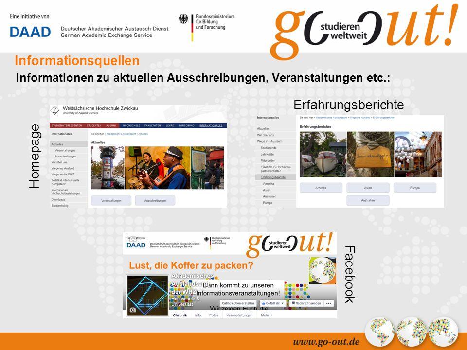 04/2006 44 Informationsquellen Informationen zu aktuellen Ausschreibungen, Veranstaltungen etc.: Erfahrungsberichte Facebook Homepage Erfahrungsberichte