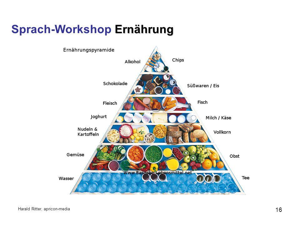 Ernährung Sprach-Workshop Ernährung Harald Ritter, apricon-media 16