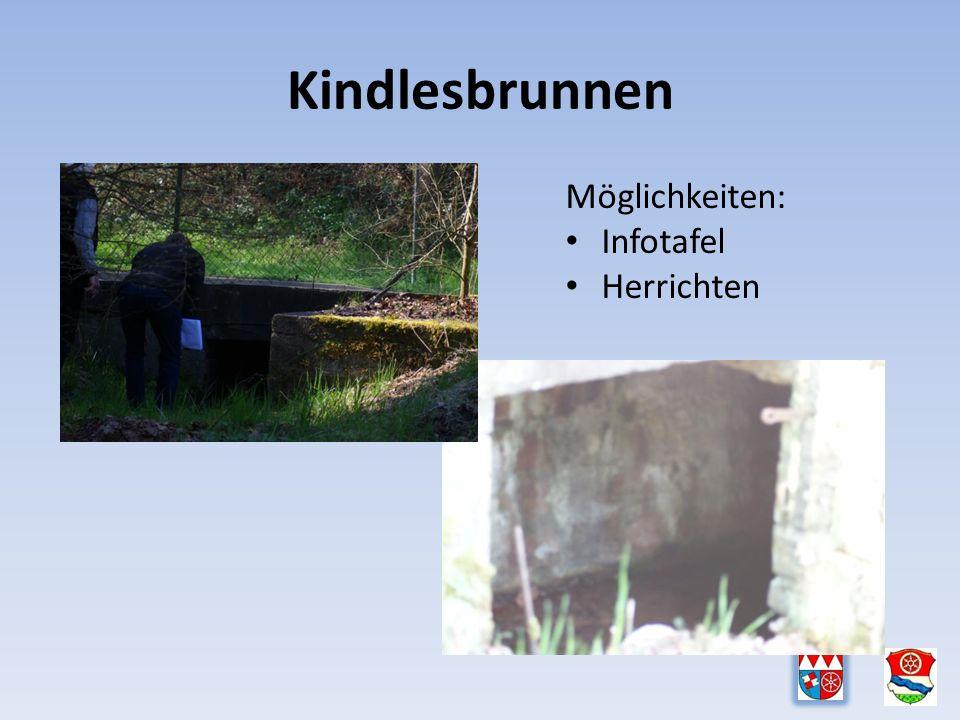 Kindlesbrunnen Möglichkeiten: Infotafel Herrichten