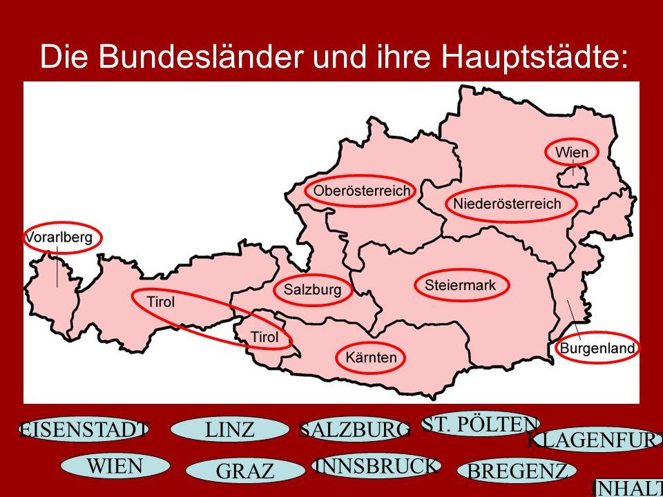 Die Bundesländer und ihre Hauptstädte: ST.