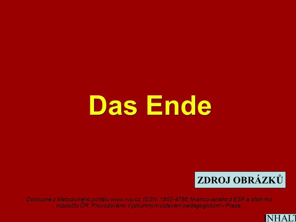 Das Ende Dostupné z Metodického portálu www.rvp.cz, ISSN: 1802-4785, financovaného z ESF a státního rozpočtu ČR.