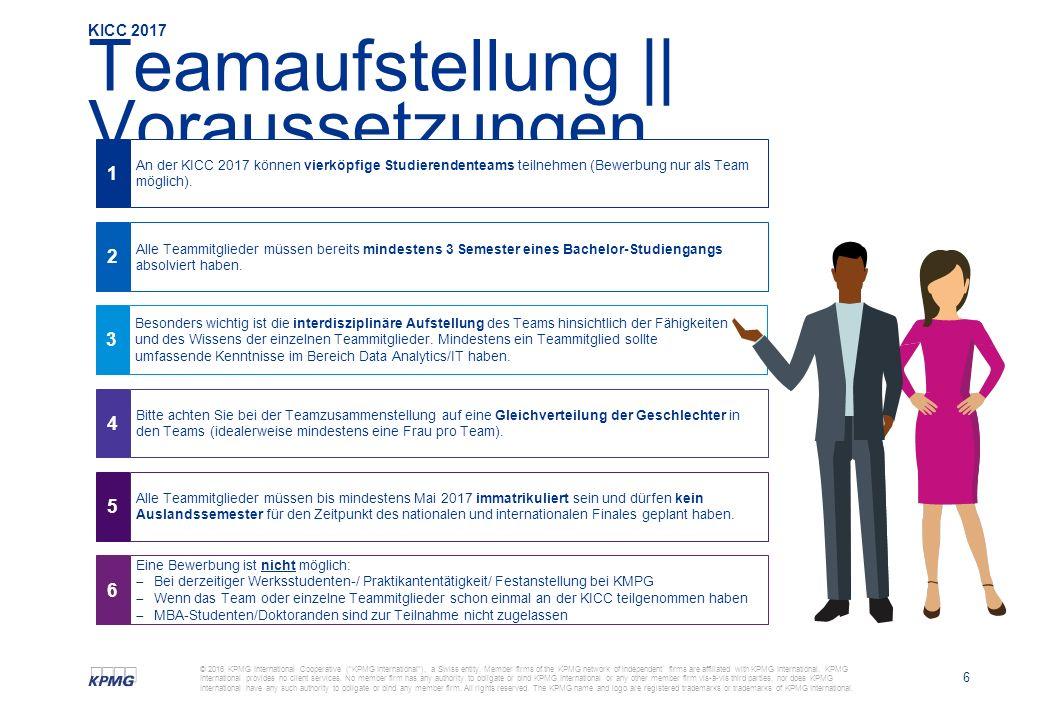 6 © 2016 KPMG International Cooperative ( KPMG International ), a Swiss entity.
