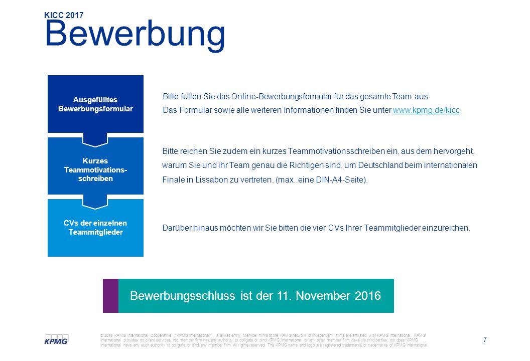 7 © 2016 KPMG International Cooperative ( KPMG International ), a Swiss entity.