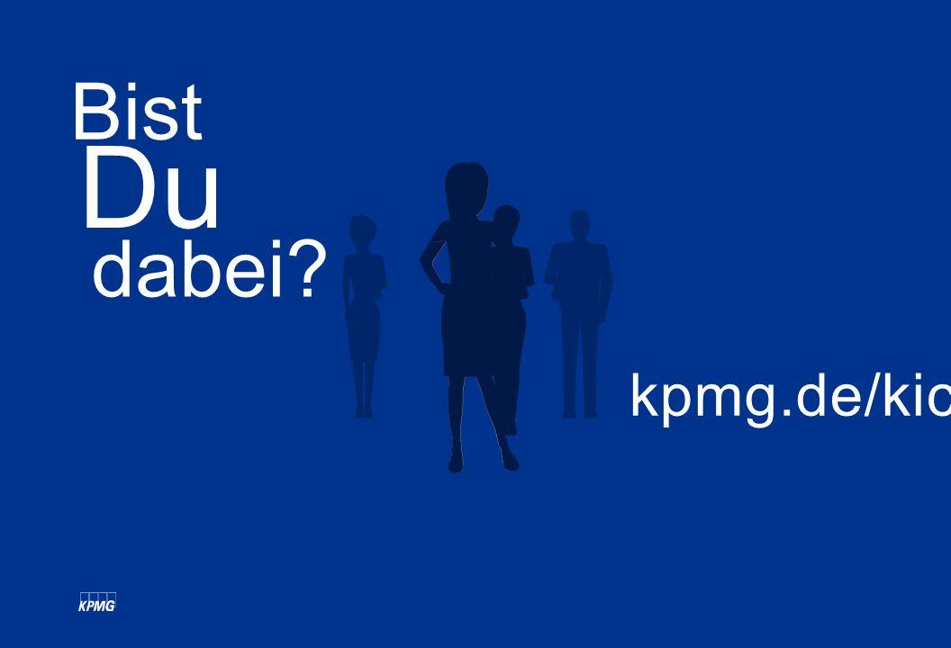 Bist Du dabei kpmg.de/kicc