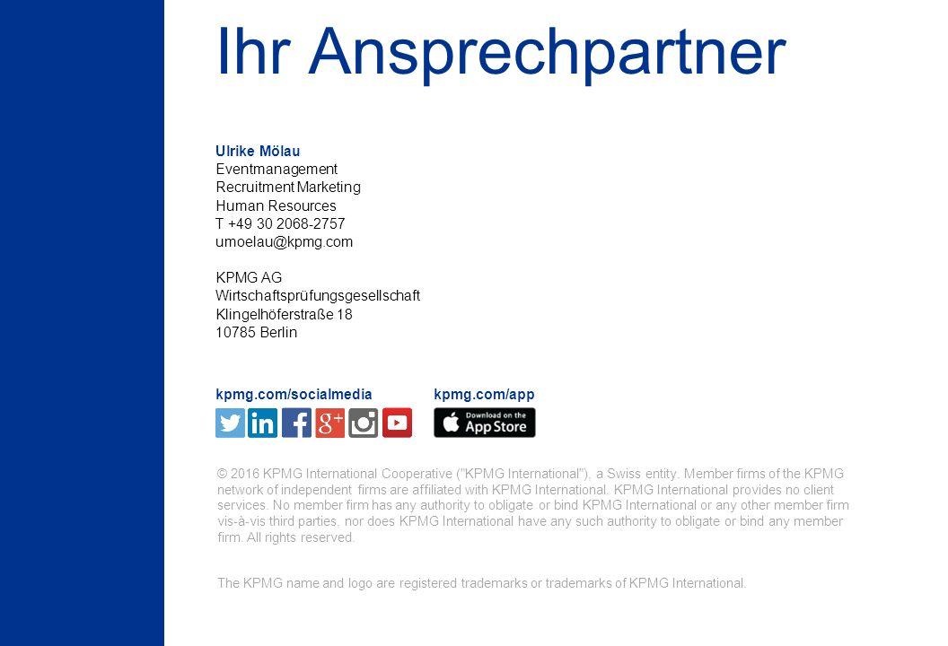 9 © 2016 KPMG International Cooperative ( KPMG International ), a Swiss entity.