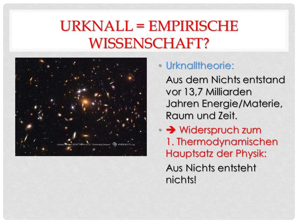 URKNALL = EMPIRISCHE WISSENSCHAFT.
