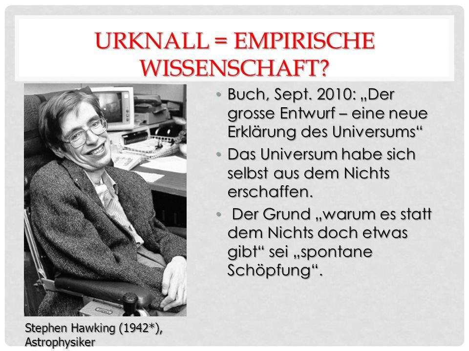 URKNALL = EMPIRISCHE WISSENSCHAFT. Buch, Sept.
