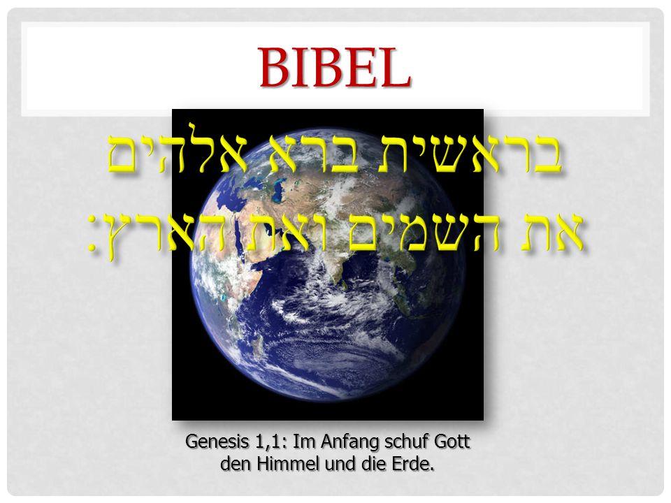 BIBEL Genesis 1,1: Im Anfang schuf Gott den Himmel und die Erde. NASA