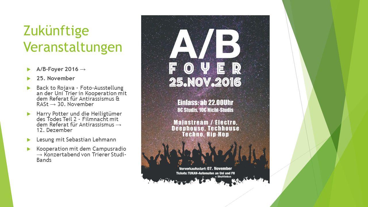 Zukünftige Veranstaltungen  A/B-Foyer 2016 →  25.