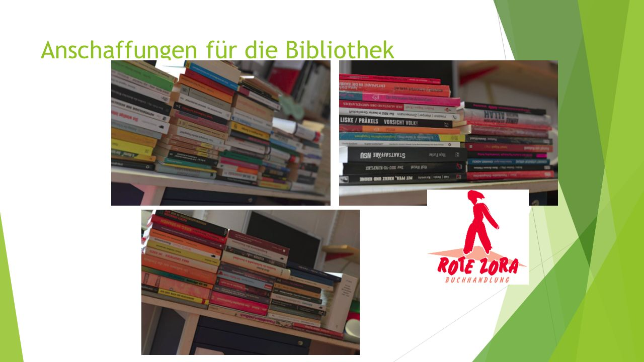Anschaffungen für die Bibliothek