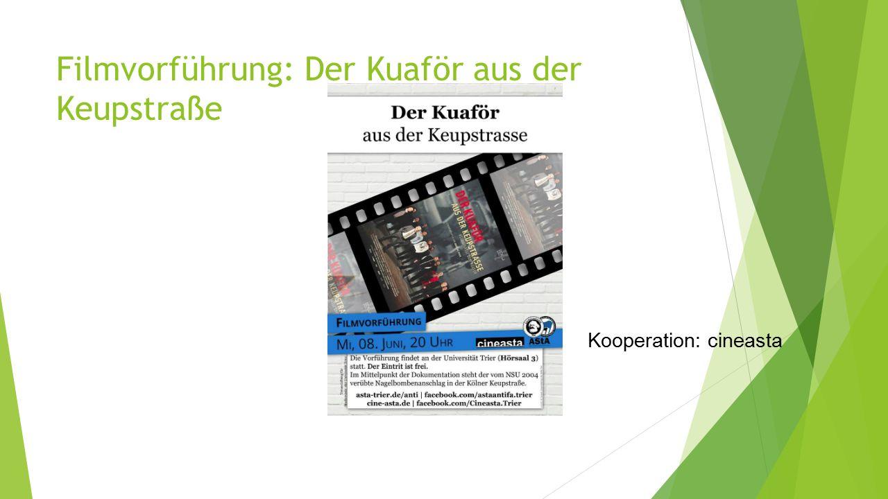 Filmvorführung: Der Kuaför aus der Keupstraße Kooperation: cineasta