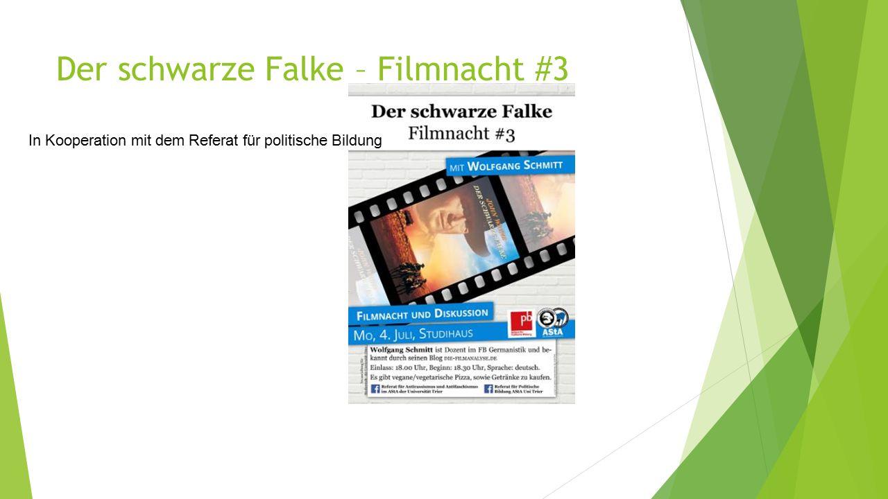 Der schwarze Falke – Filmnacht #3 In Kooperation mit dem Referat für politische Bildung
