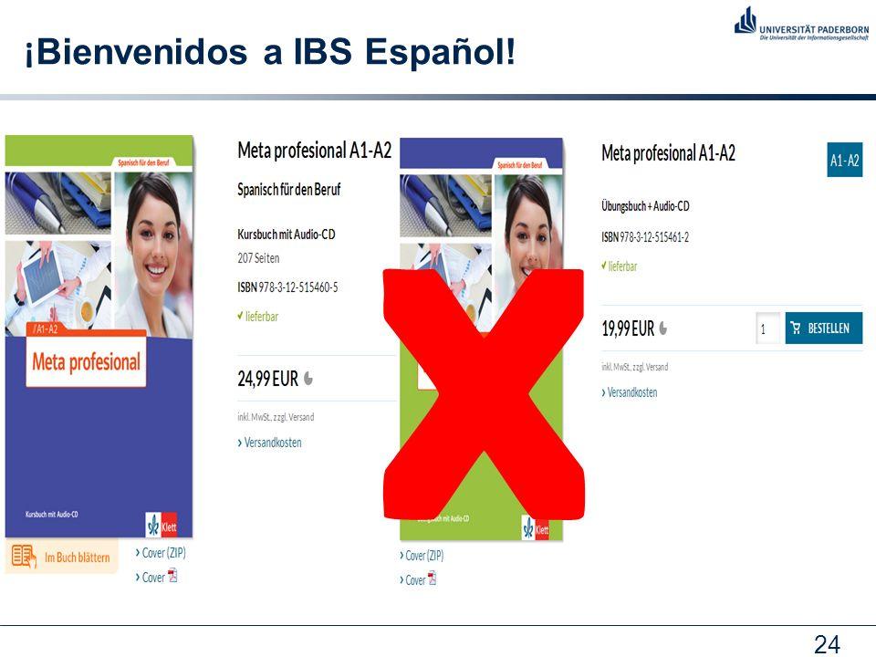 24 ¡ Bienvenidos a IBS Español! X