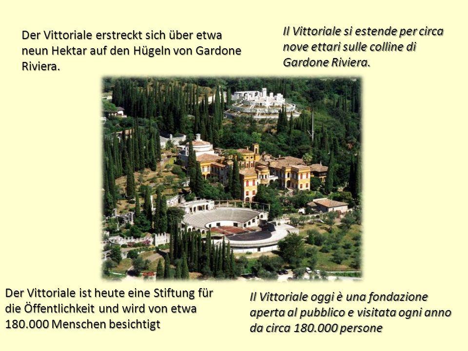 Der Vittoriale erstreckt sich über etwa neun Hektar auf den Hügeln von Gardone Riviera.