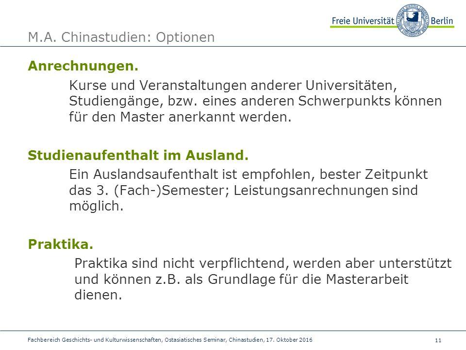 11 Fachbereich Geschichts- und Kulturwissenschaften, Ostasiatisches Seminar, Chinastudien, 17.