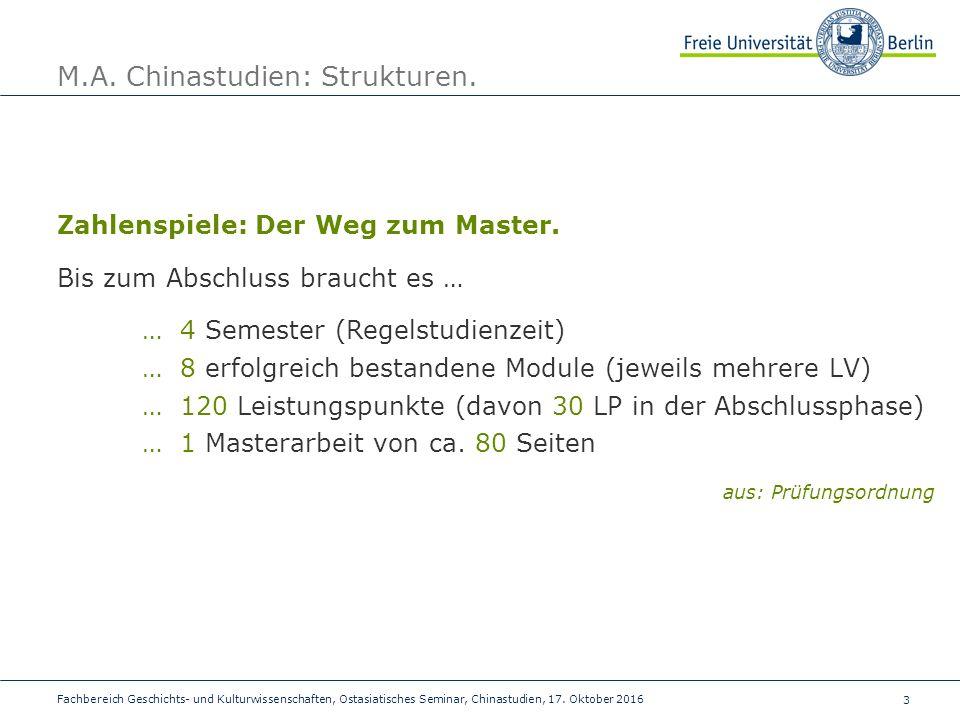 3 Fachbereich Geschichts- und Kulturwissenschaften, Ostasiatisches Seminar, Chinastudien, 17.