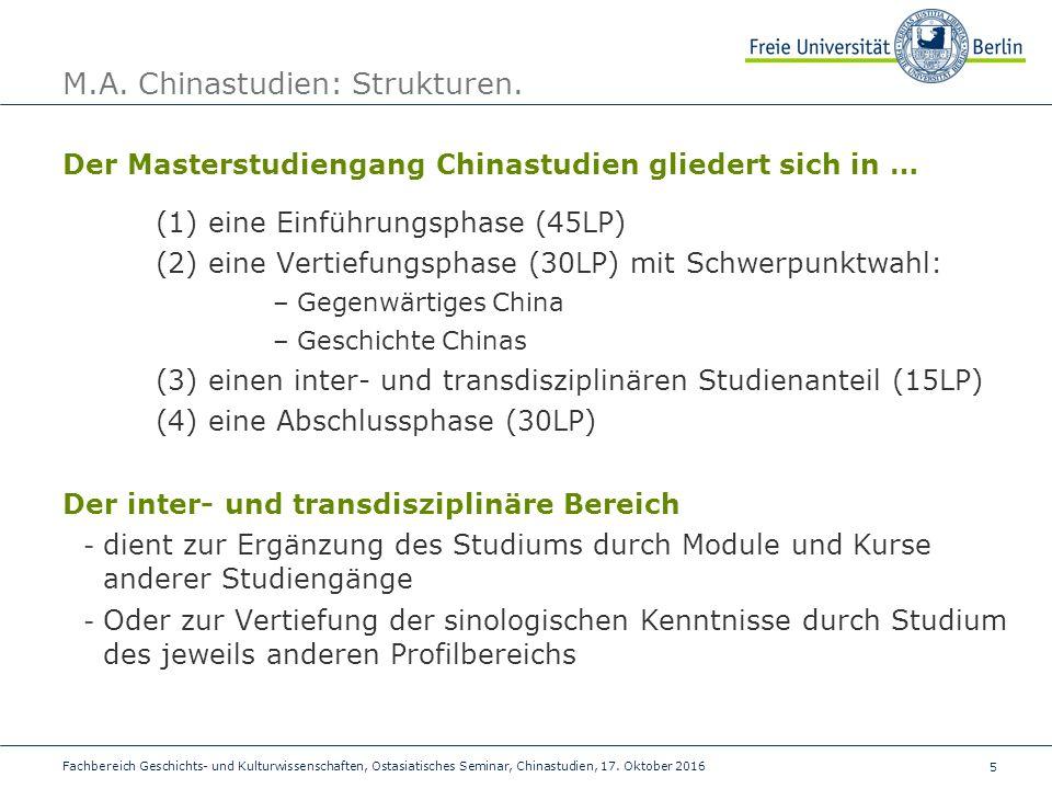 5 Fachbereich Geschichts- und Kulturwissenschaften, Ostasiatisches Seminar, Chinastudien, 17.