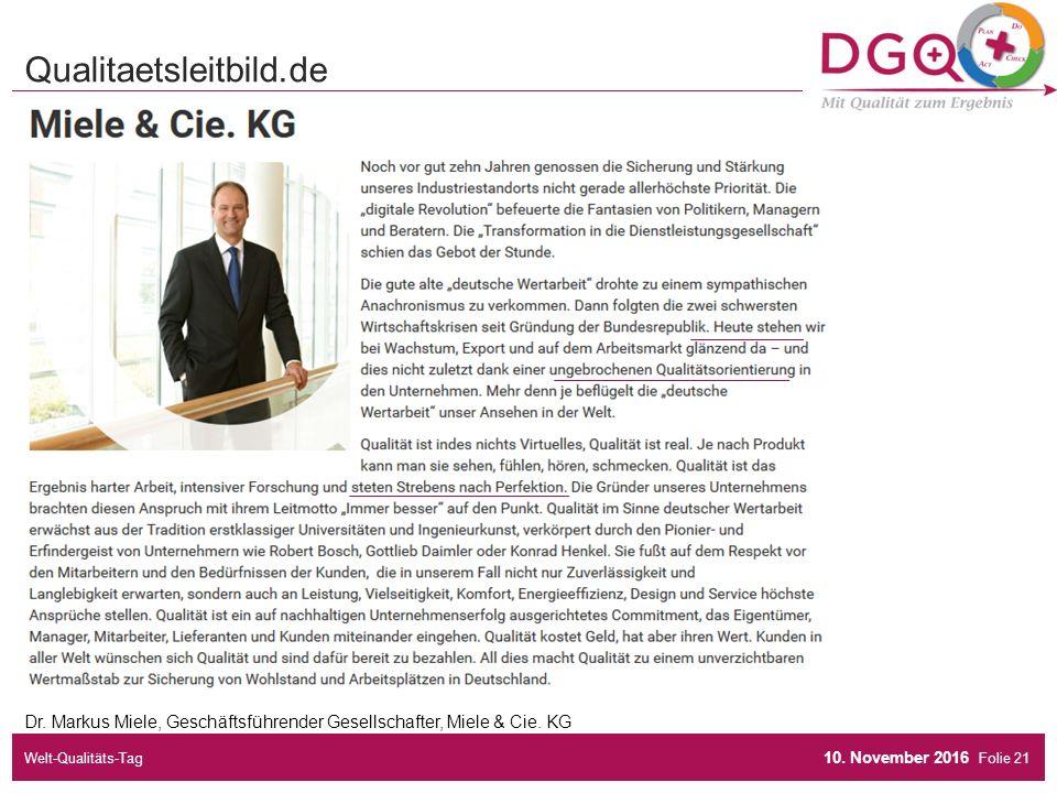 Folie Dr. Markus Miele, Geschäftsführender Gesellschafter, Miele & Cie.