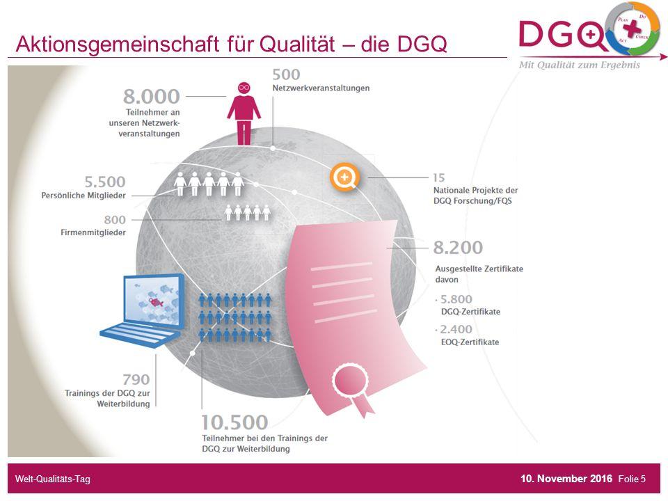 Folie Aktionsgemeinschaft für Qualität – die DGQ 10. November 2016 Welt-Qualitäts-Tag5