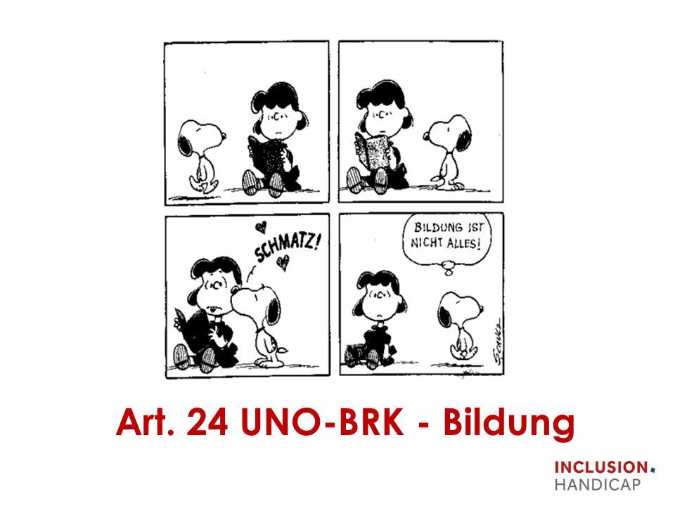 Art. 24 UNO-BRK - Bildung