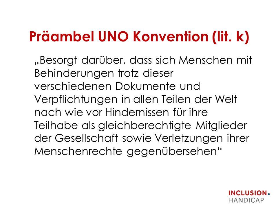 Präambel UNO Konvention (lit.