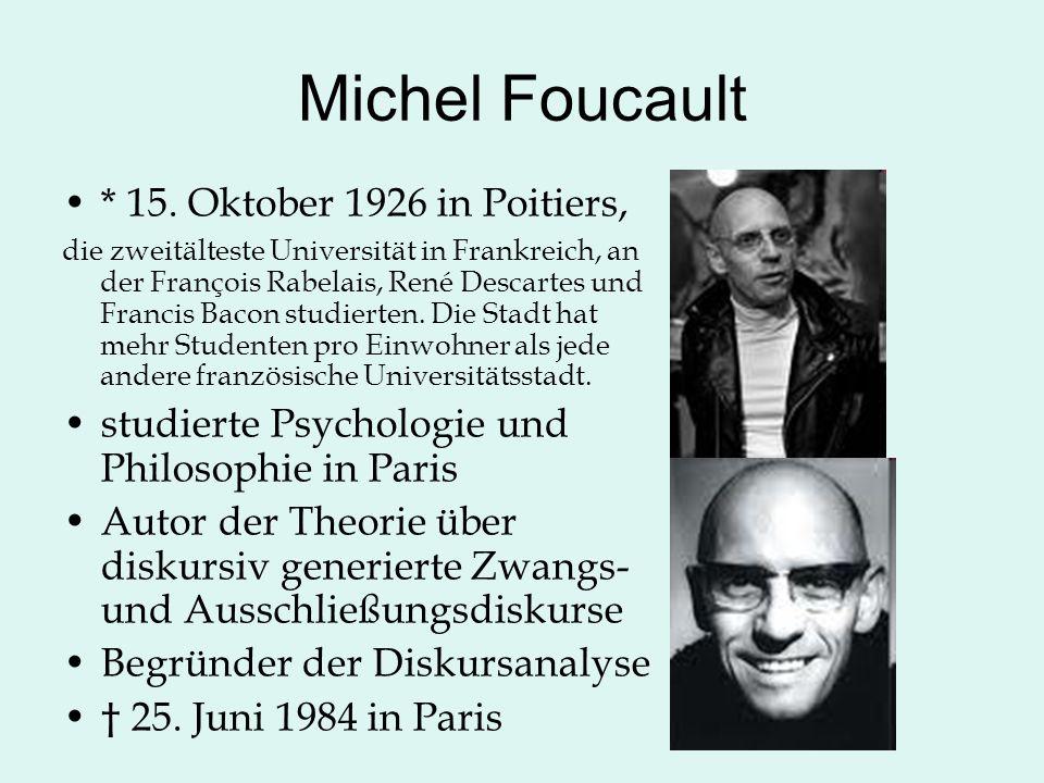 Michel Foucault * 15.