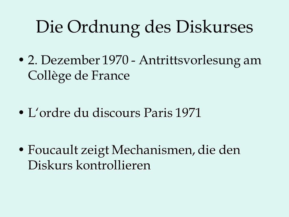 Die Ordnung des Diskurses 2.