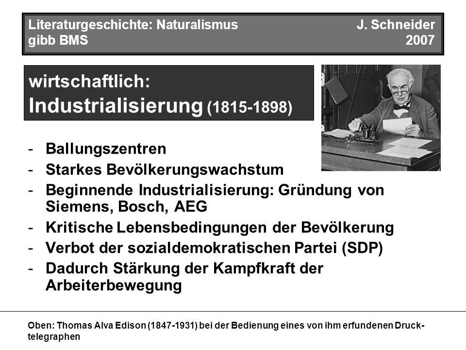 Literaturgeschichte: NaturalismusJ.