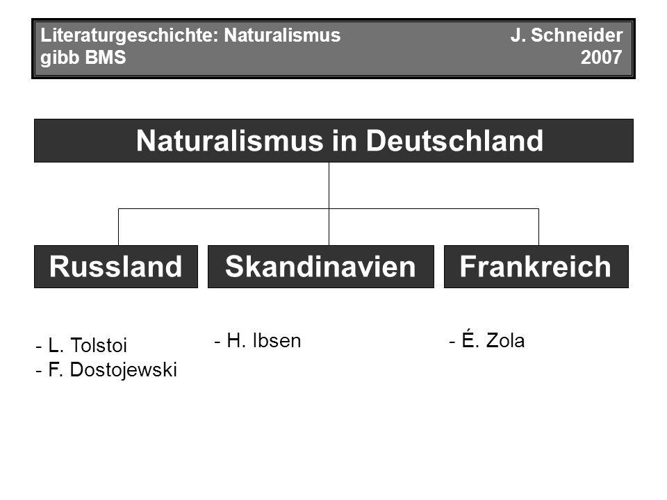 Naturalismus in Deutschland Literaturgeschichte: NaturalismusJ.