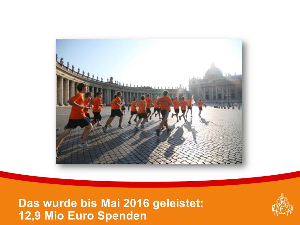Textmasterformate durch Klicken bearbeiten 34 Das wurde bis Mai 2016 geleistet: 12,9 Mio Euro Spenden